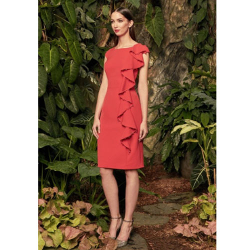 Alexander by Daymor Side Ruffle Cocktail Dress