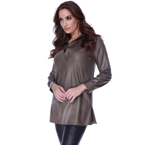 Angel Microfiber Leather Side Silt Tunic