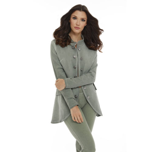 French Kyss Long Button Jacket