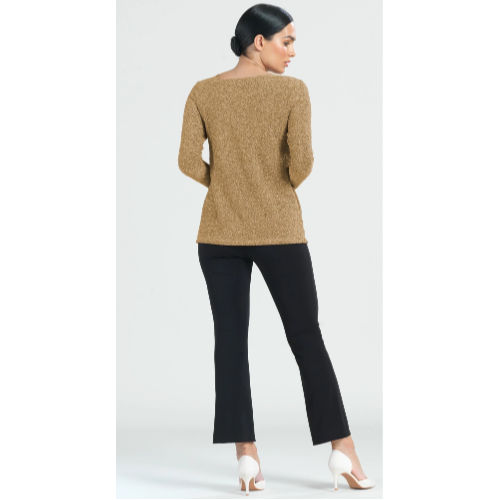 Shimmer Angle Neckline Cut Out Accent Top