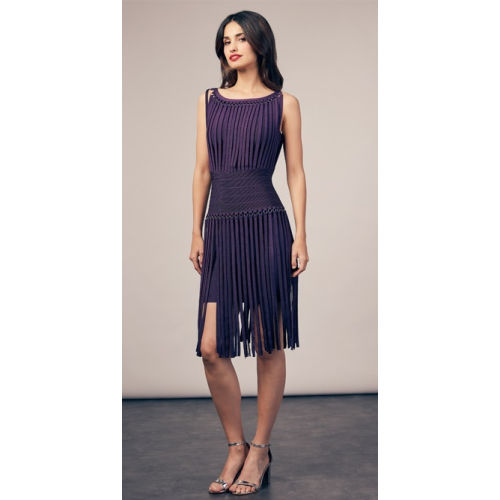 Oh La La Purple Fringe Dress