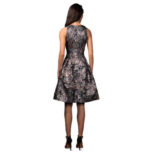 Theia Brocade Cocktail Dress