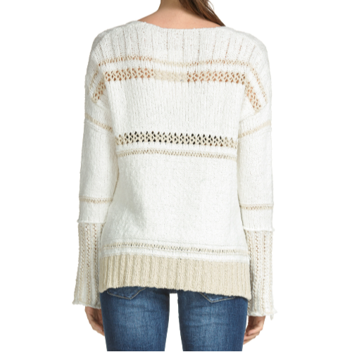 Two Tone Crochet Sweater