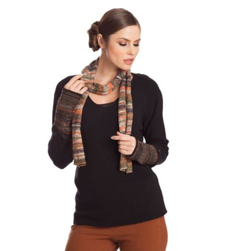 Angel Multi Color Sweater and Scarf Set