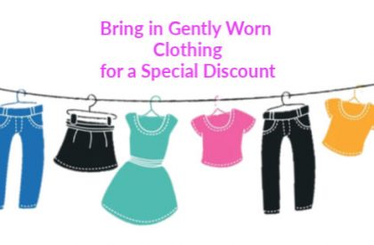 Bring in Gently Worn Clothes to Donate for a Special Discount
