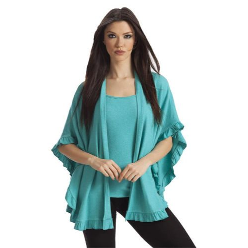 French Kyss Kashmira Ruffle Shawl