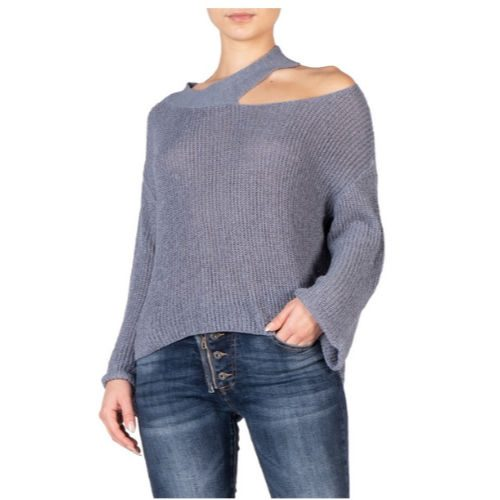 Off the Shoulder Cut Out Sweater