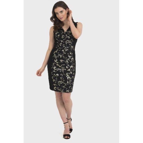 Joseph Ribkoff Black/Gold Dress