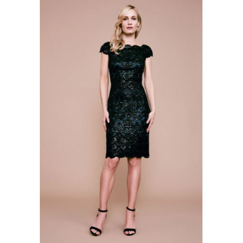 Tadashi Sequin Embroidered Dress