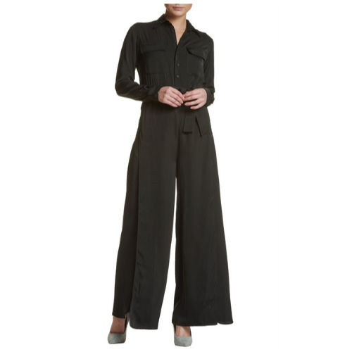 Button Up Shirt Jumpsuit