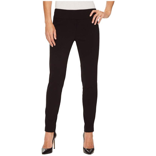 Control Stretch Pull-On Ankle Pants with Back Slit Detail