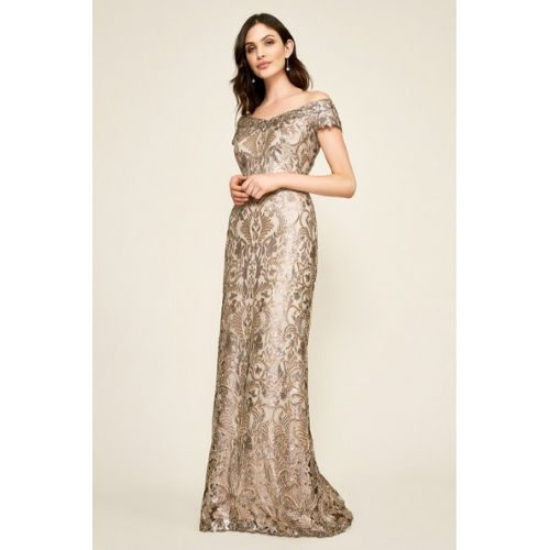 Tadashi Harford Sequin Gown
