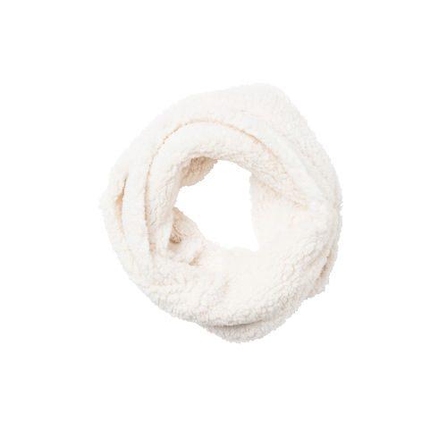 Cream Sherpa Infinity Scarf