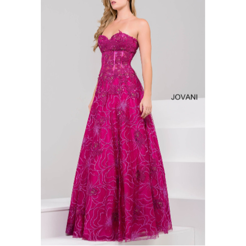 Jovani 14913 Floral Applique Mother of the Bride Gown by jovani at helen ainson in Darien ct