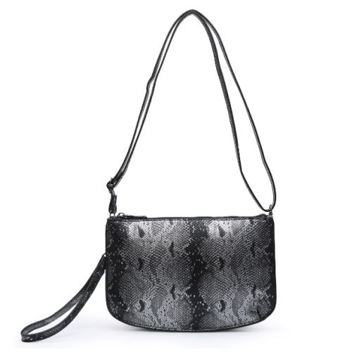 Python Two Compartment Crossbody/Clutch