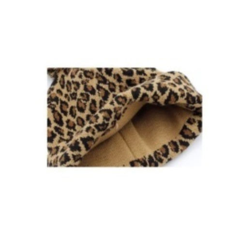 Leopard Pom Pom Hat