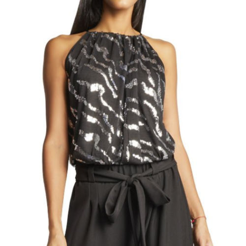 Julian Chang Sequin Halter Top