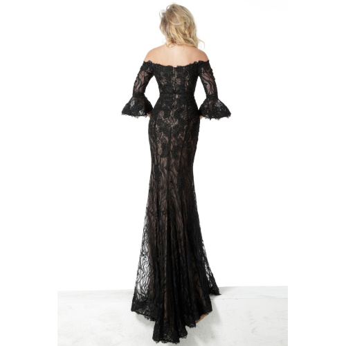 Lace off-shoulder Bell Sleeve Trumpet Dress