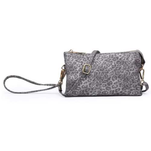 Cheetah 3 Compartment Wristlet/Crossbody