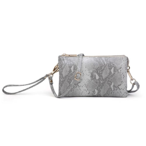 Python 3 Compartment Wristlet/Crossbody