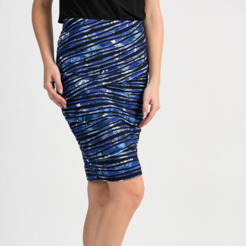 Joseph Ribkoff Black/Blue Pull on Skirt
