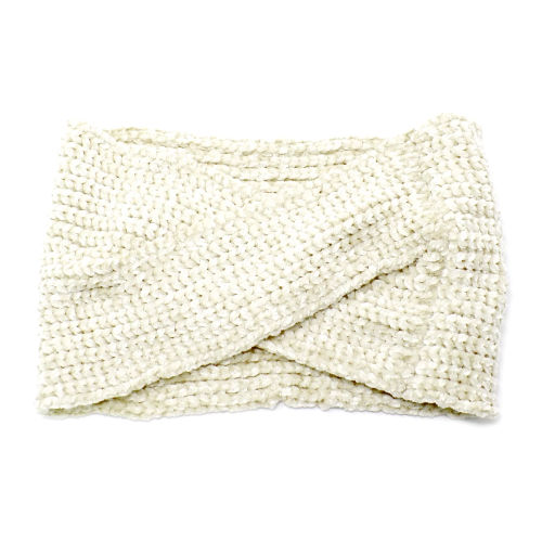 Chenille Knitted Headband
