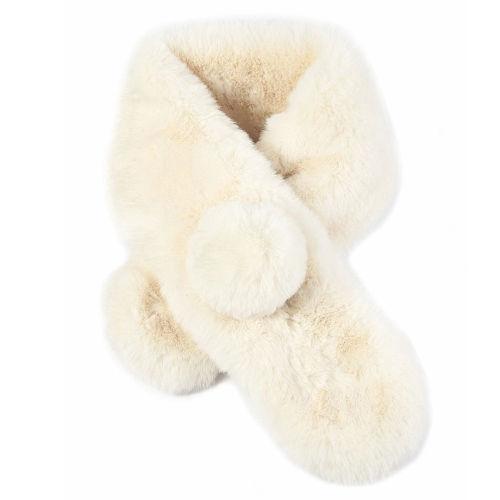 Pom Pom Faux Fur Collar Scarf