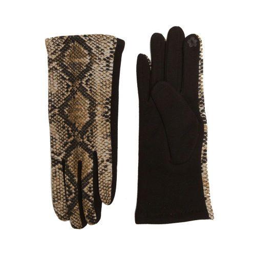 Snake Skin Print Gloves