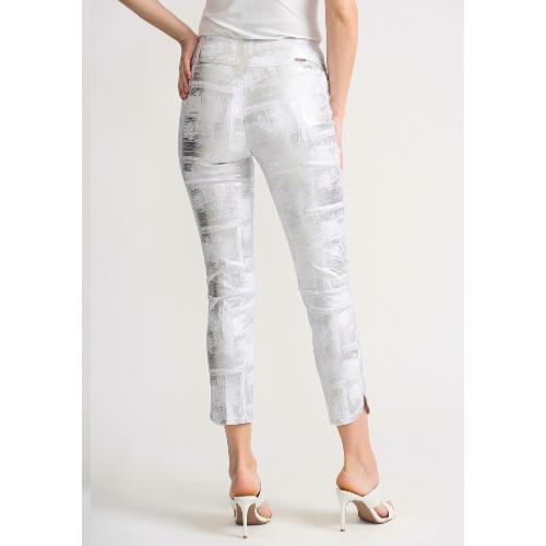 Joseph Ribkoff White/Silver Pants