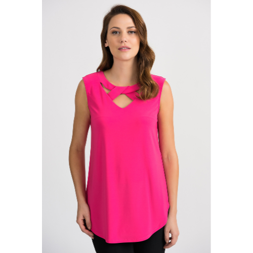 Joseph Ribkoff Cross Neck Tunic