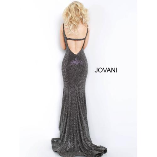 Jovani Black Cowl Neckline Low Back Gown