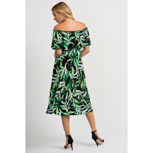 Joseph Ribkoff Green Floral Dress