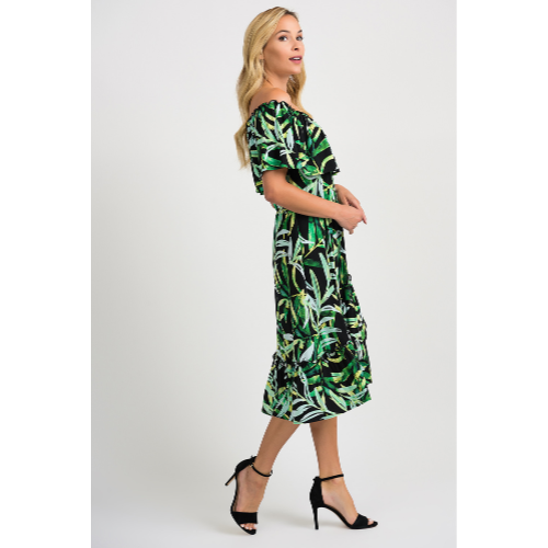 Joseph Ribkoff Green Floral Dress