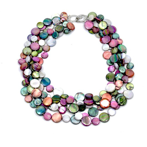 5 strand mother of pearl necklace by Sea Lily at Helen Ainson in Darien CT