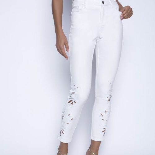 Off White Jeans by Frank Lyman
