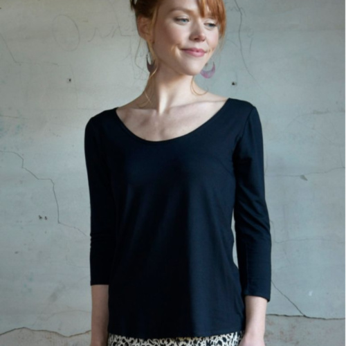 3/4 Sleeve Cora Top Solid