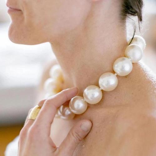 "Ivory White 18"" Necklace"