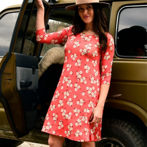 3/4 Sleeve Lexi Dress Print by Salaam