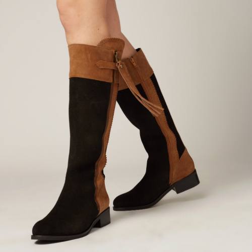 stivali boot blk tan