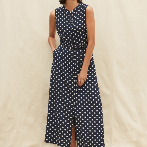 Belted Polka Dot Dress at Helen Ainson in Darien Ct