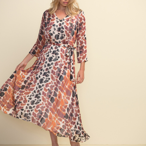 Joseph Ribkoff Multi Dress Style 211058 at Helen Ainson In Darien CT