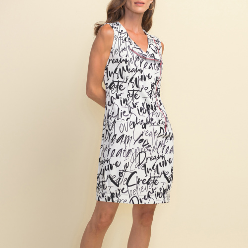 Joseph Ribkoff Graffiti Print Sleeveless Dress