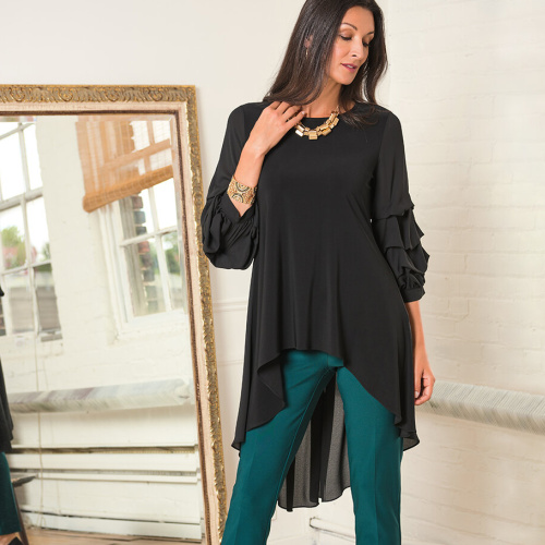 Joseph Ribkoff Black Tunic Style 203016 at Helen Aisnon in Darien CT