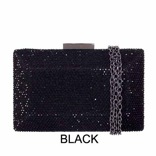 "Evening clutch EHC9335BK 1 Square Crystal Minaudiere *6.5"" x 4"" x 2"" at Helen Ainson in Darien Ct"