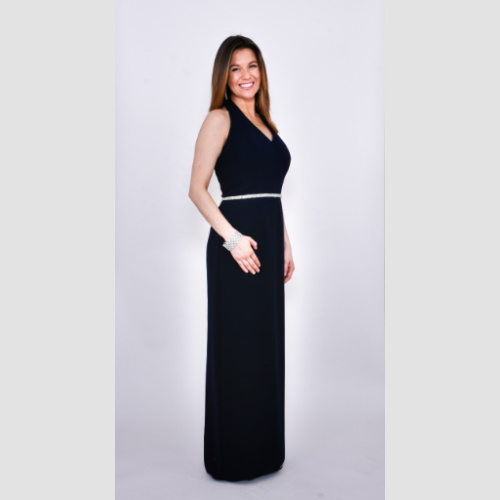 Ideas navy halter with beaded waist By ideas by barbara for mother of the bride or groom