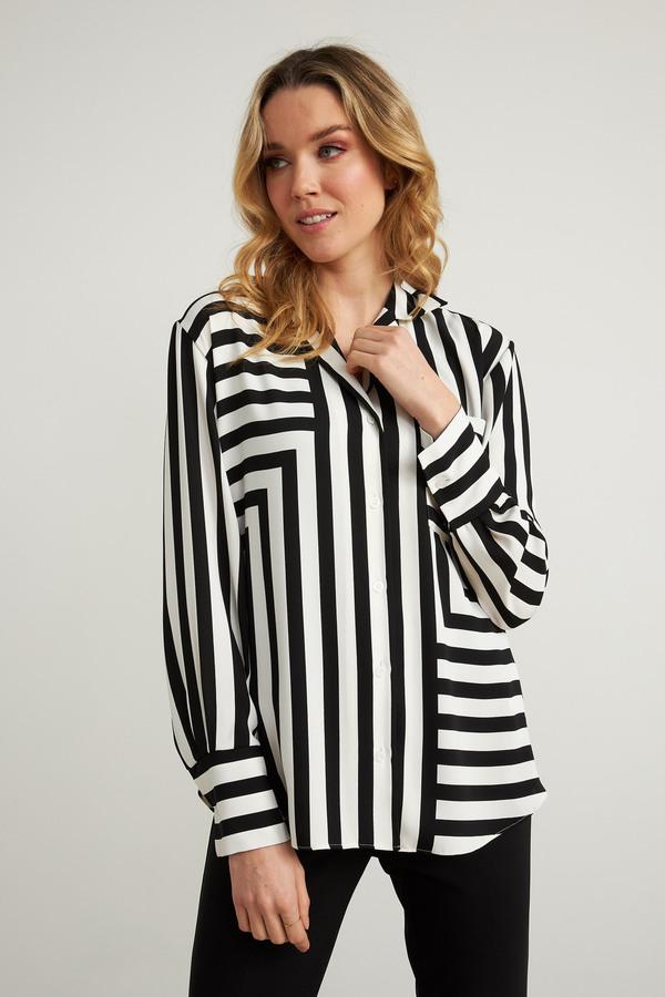 JOSEPH RIBKOFF Striped Blouse Style 211025 at Helen Ainson in Darien CT