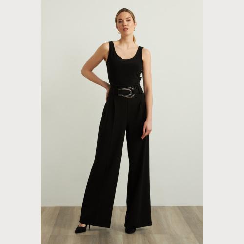 Joseph Ribkoff Crepe Wide Leg Pants Style 213611 at Helen Ainson in Darien Ct