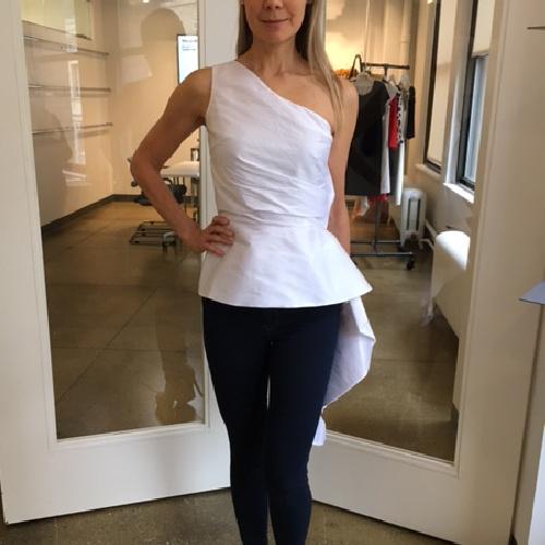 Yolanda Arce One Shoulder Top