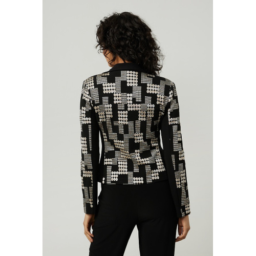 Printed Jacquard Jacket Style 214293