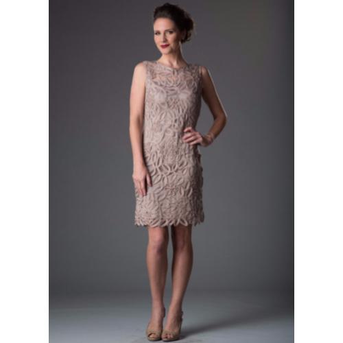 Soulmates Lace Sequin Boatneck Sheath Dress
